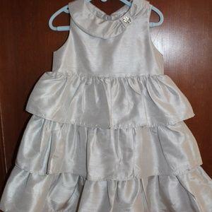 NWT Gymboree silver gown formal dress sz 4T